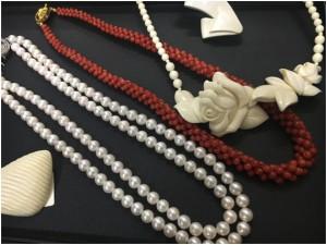 珊瑚ネックレス、パールネックレス買取 群馬県のお客様