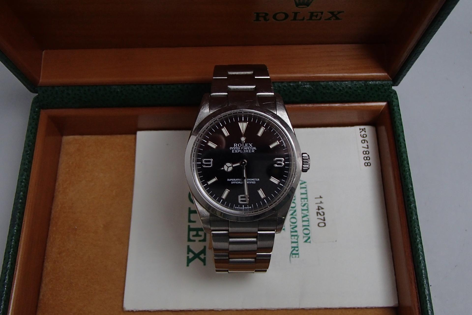 ロレックス買取 エクスプローラ1 114270 北海道のお客様