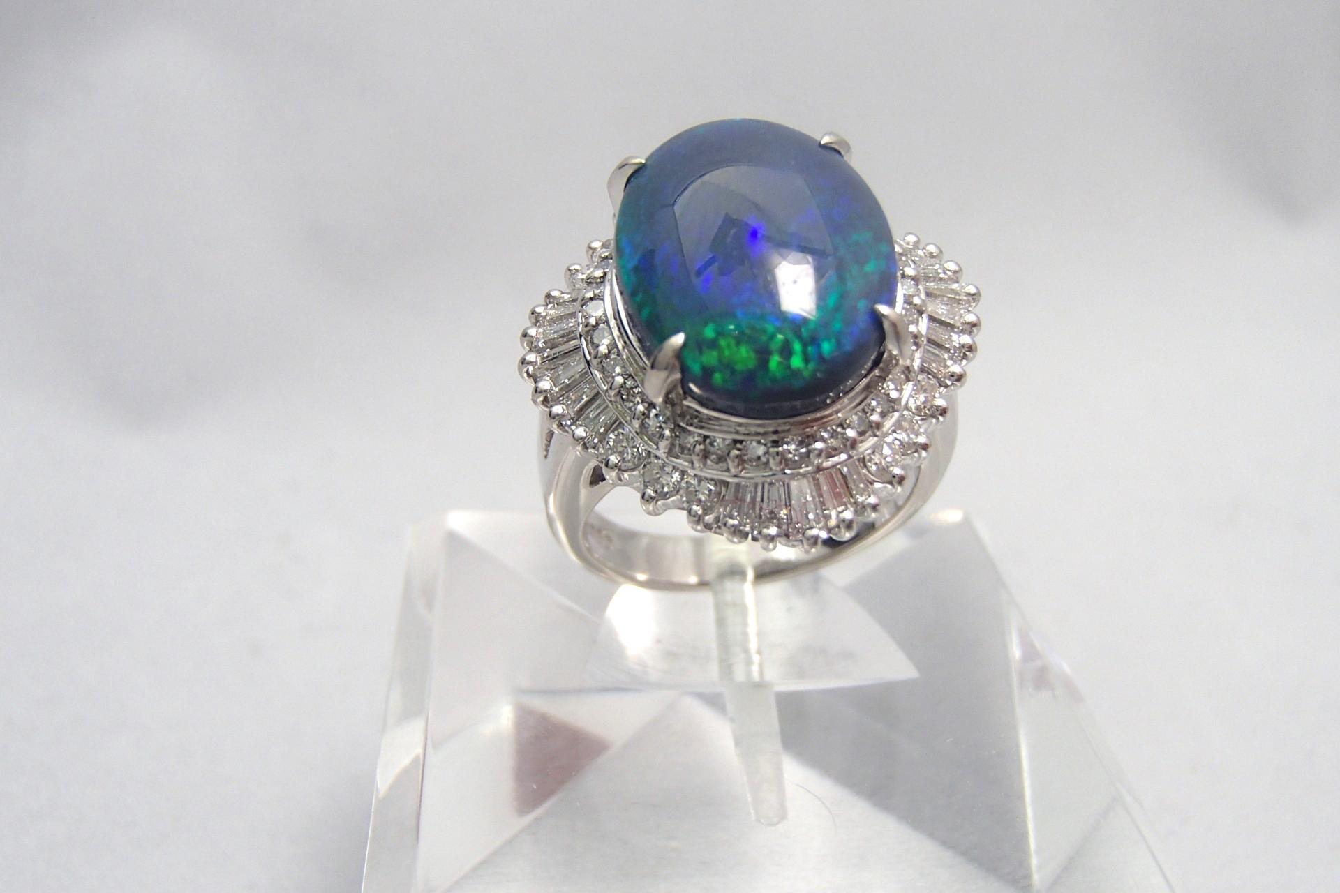 宝石買取 オパールリング pt850 千葉県のお客様