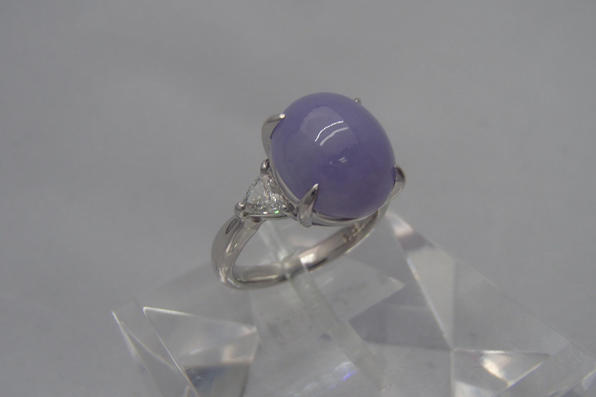 宝石買取 翡翠 リング pt900 6.09ct 茨城県のお客様