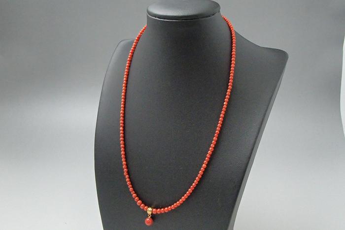 赤珊瑚で出来たネックレスの買取価格