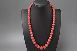 赤珊瑚 ネックレスを高価買取しました。