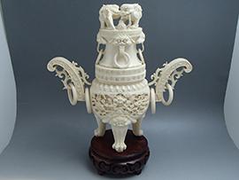象牙の香炉買取いたしました。茨城県のお客様