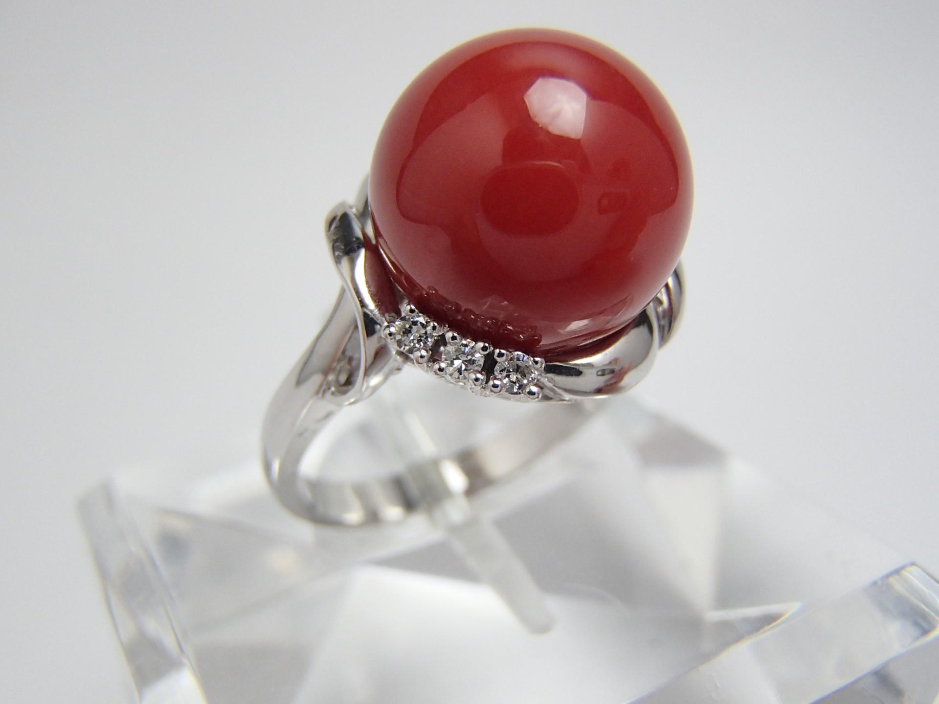 赤珊瑚のリングを高価買取! 丸玉が良いとされる理由はなに!?