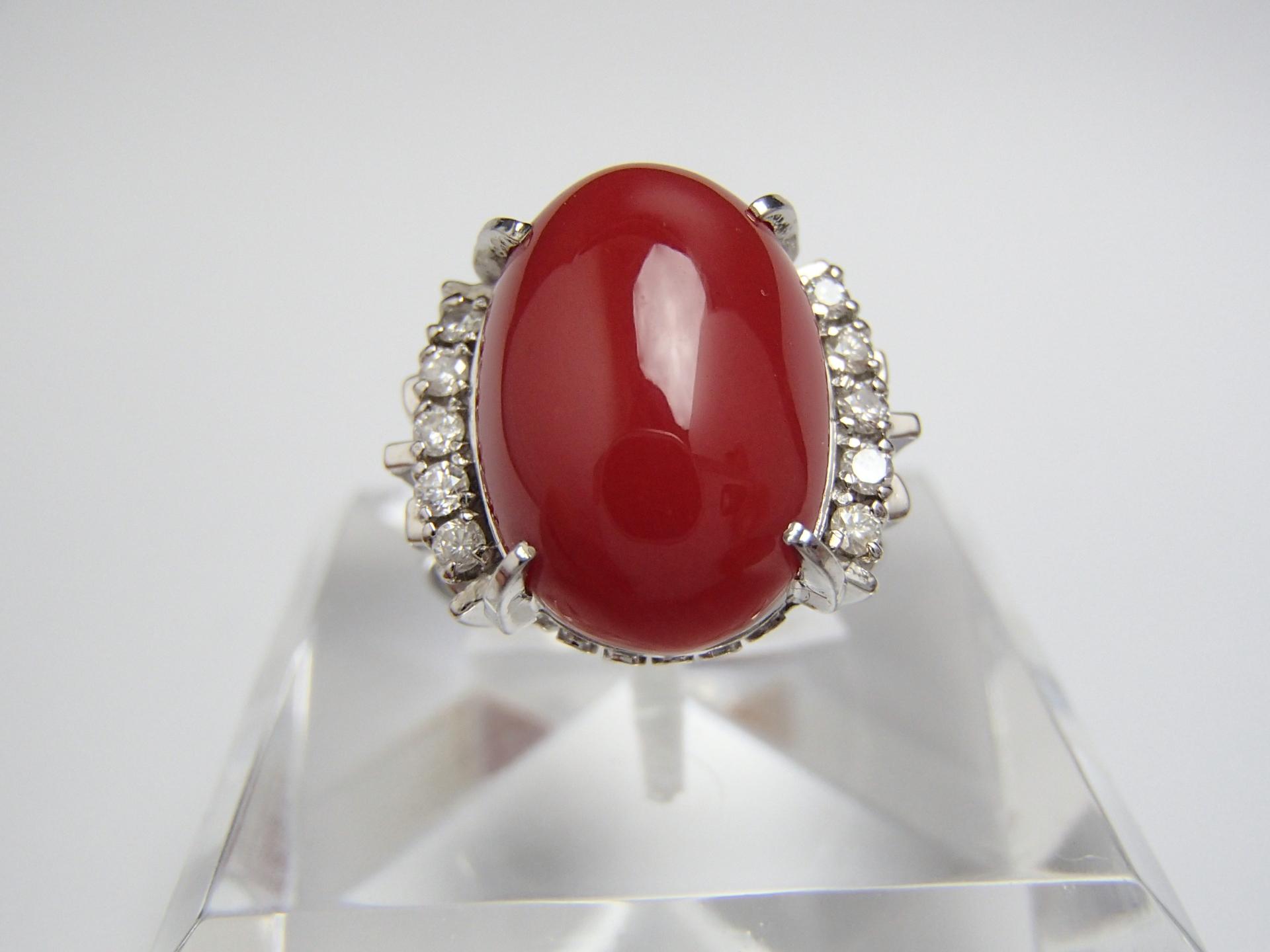 【買取実績】 赤珊瑚のリングを高価買取しました!!