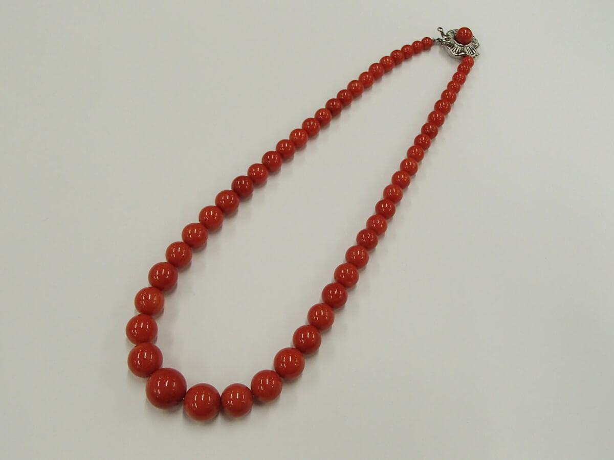 赤珊瑚のネックレスを買取! 茨城県のお客様