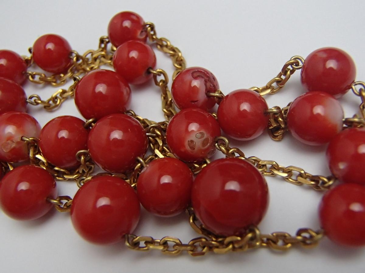 赤珊瑚のネックレスを高額買取しました! 神奈川県のお客様
