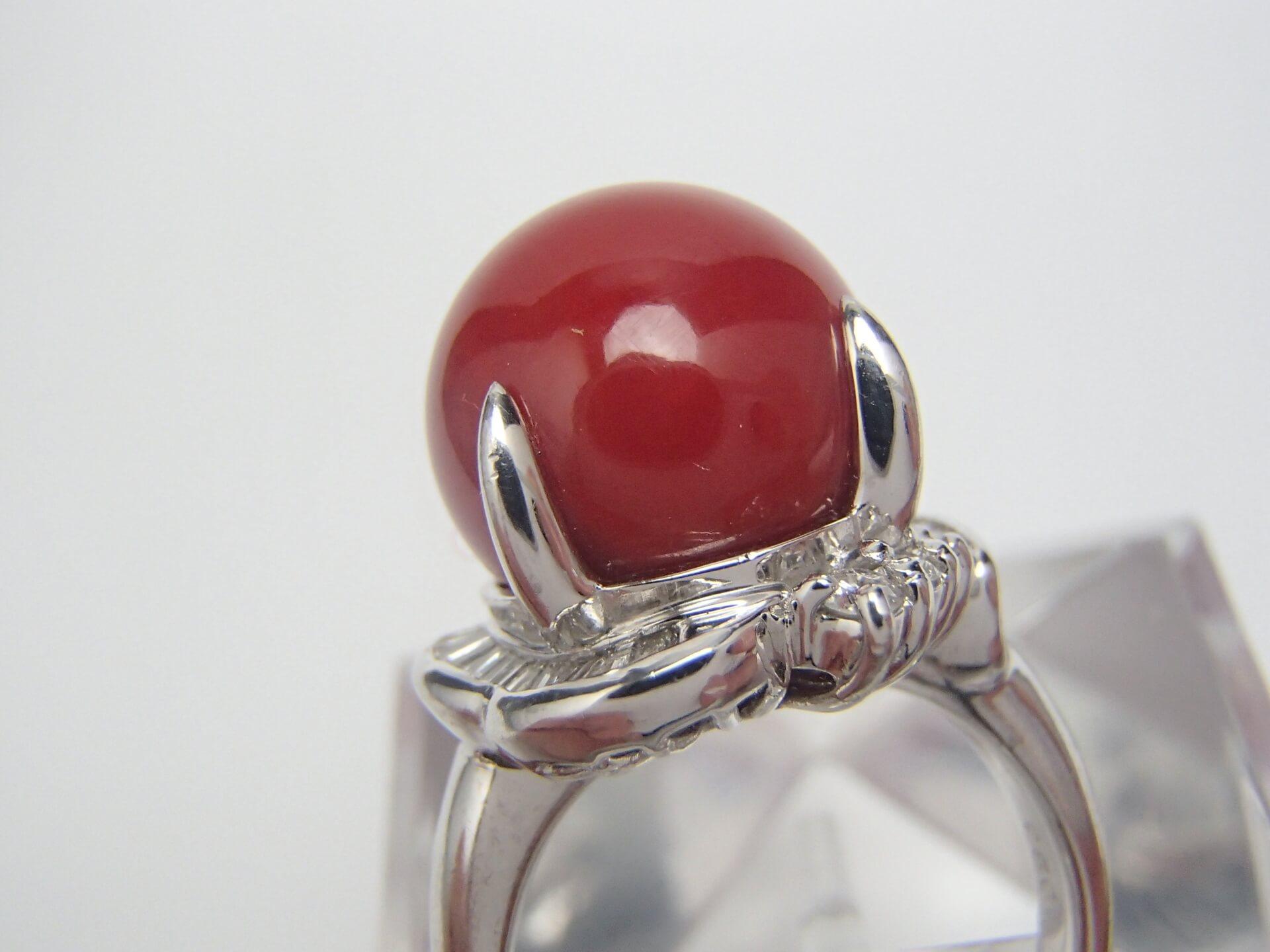 赤珊瑚のリングを高額買取しました! 滋賀県のお客様