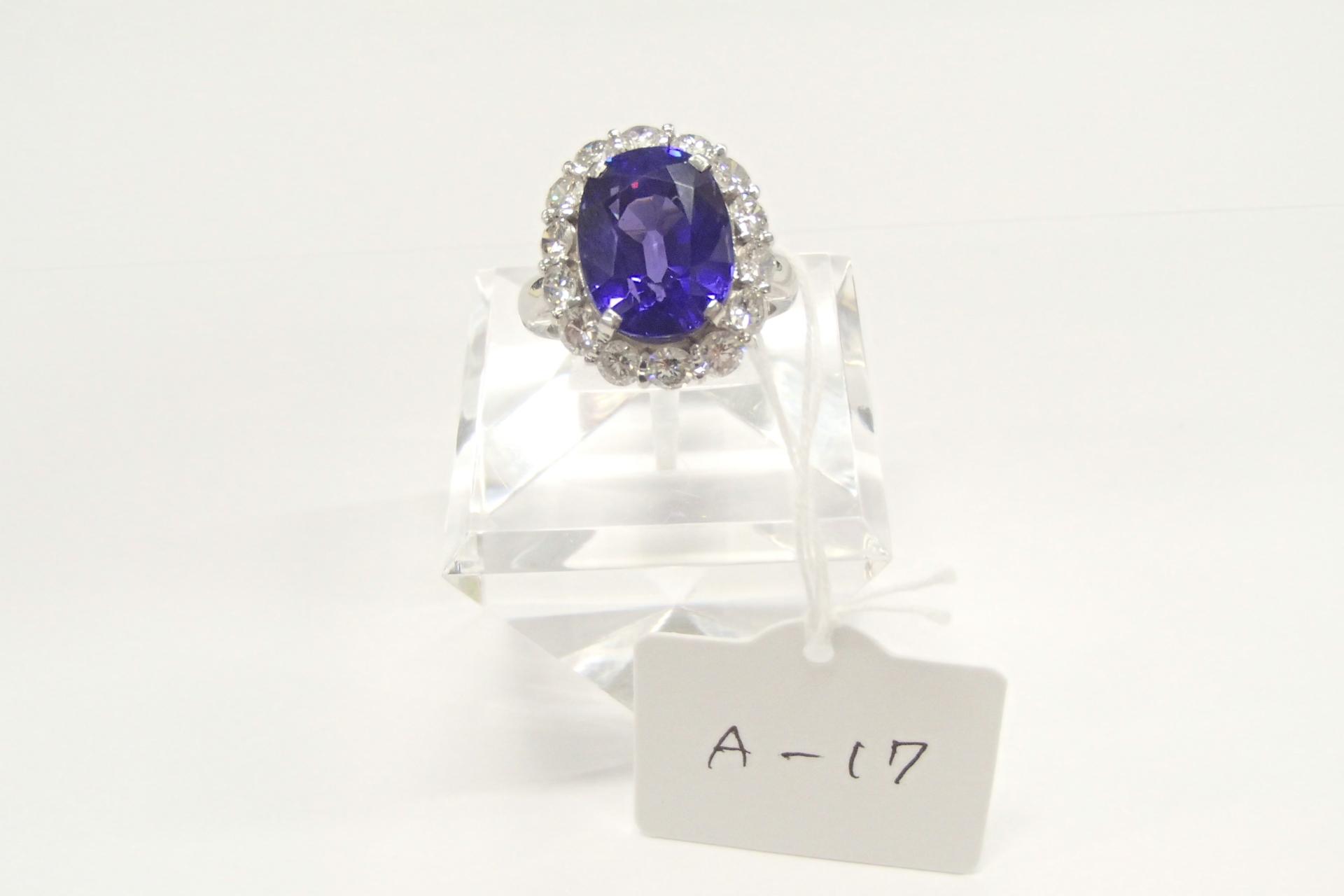タンザナイトのリングを高額買取しました! 千葉県のお客様