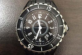 故障したシャネル時計J12