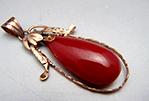 赤珊瑚k14ペンダント