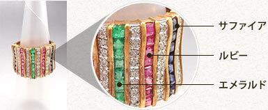 金の中に含まれた宝石も ラフテルではしっかり査定します!